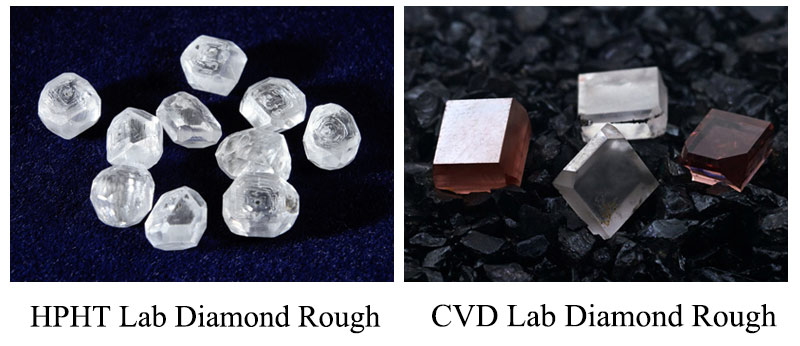 hpht and cvd lab grown diamonds